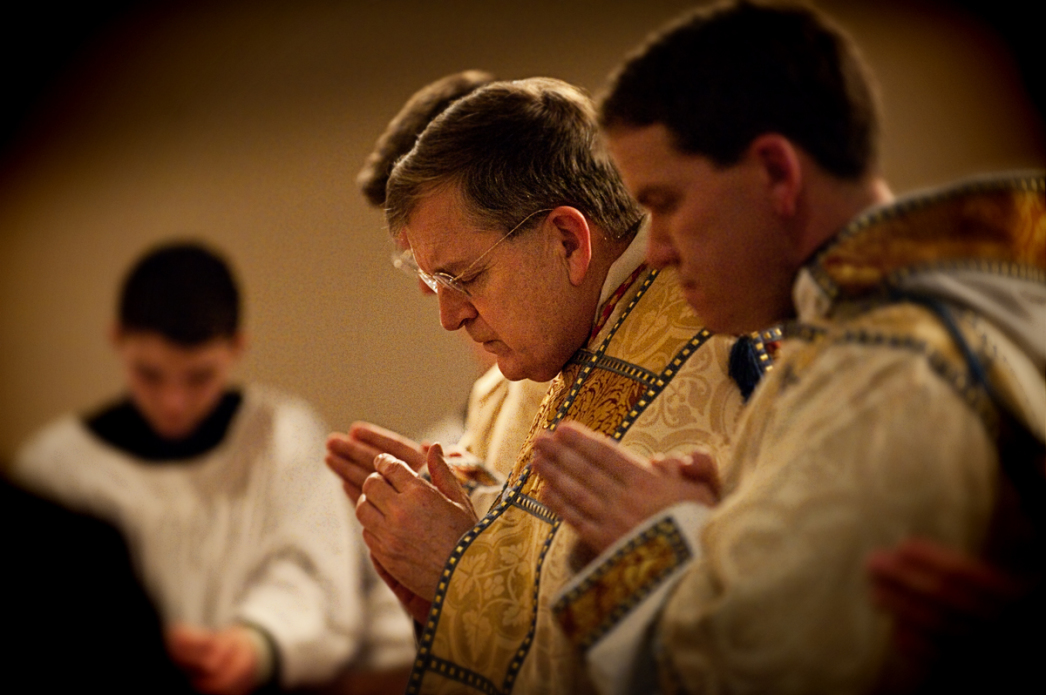 Raymond Cardinal Leo Burke visits the Oratory of Ss. Gregory and Augustine to celebrate Benediction of the Blessed Sacrament followed by a Reception. As Archbishop of St Louis, Cardinal Burke canonically established the Oratory on the first Sunday of Adve